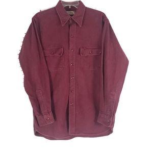 LL BEAN Mens Chamois Cloth Button Shirt 16/Large